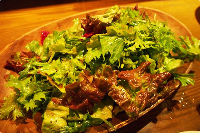 グリーンサラダだけど、はっきりいってこのシンプルさが個人的に好き。