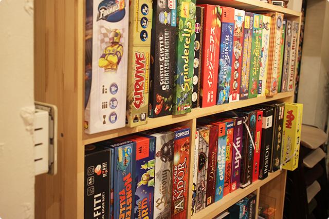 ドン!お店にはボードゲームがずらり!
