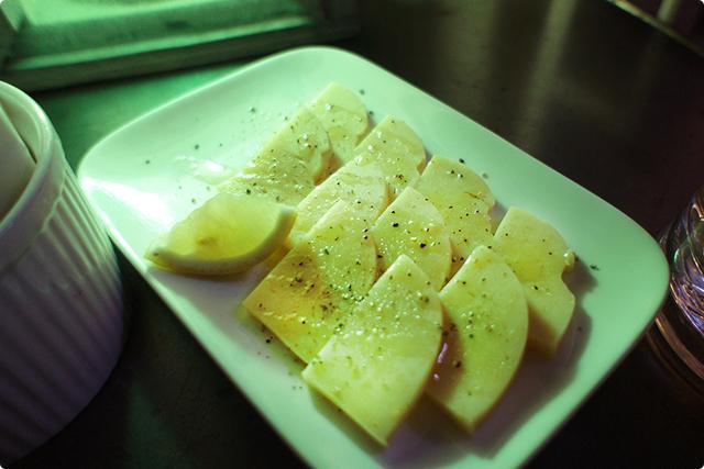 パニッサ…ヒヨコ豆のペーストのスライス。