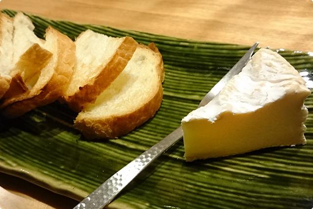日本酒で自家製ウォッシュチーズ 750円