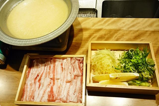 霧島豚と九条葱の白湯しゃぶしゃぶ 小 2,500円