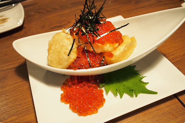 『Japanese scallop from Hokkaido pref. with a ton of ikura』