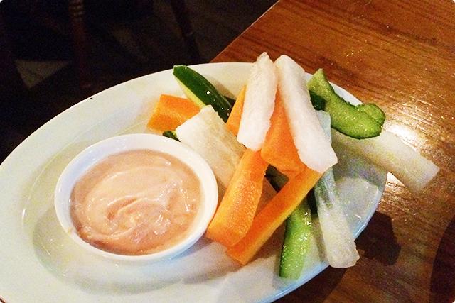 健康的に『野菜スティック』を注文