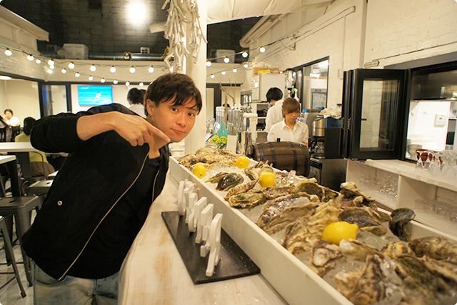 あ、さっき食べた新鮮な牡蠣はこれですね!お腹いっぱいだけどまだ食べたい。。