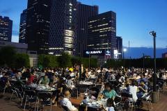 【Keio ASAHI sky garden】On the rooftop Beer garden! (Shinjuku! Tokyo)