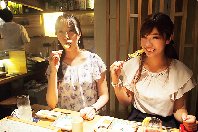 女子2人も「なにこれ?なにこれ?美味しい!」と、3人して錯乱状態です!