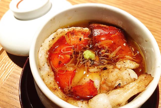 'Foie gras and shrimp of omal shrimp