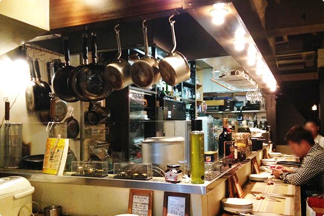 店内は、長方形のハイテーブルのカウンターベースでバールのような空間。
