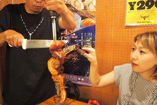 そして『ポルコばら肉』豚肉もシュラスコでいただくと味と楽しさが変わる!