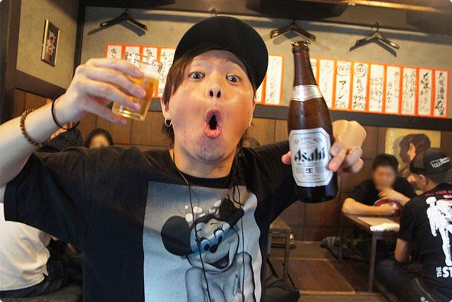 ここで『瓶ビール』(390円)を注文!
