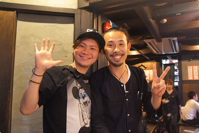 鈴山さんご馳走さまでした!京都に行った際はぜひまたお会いしたいです!