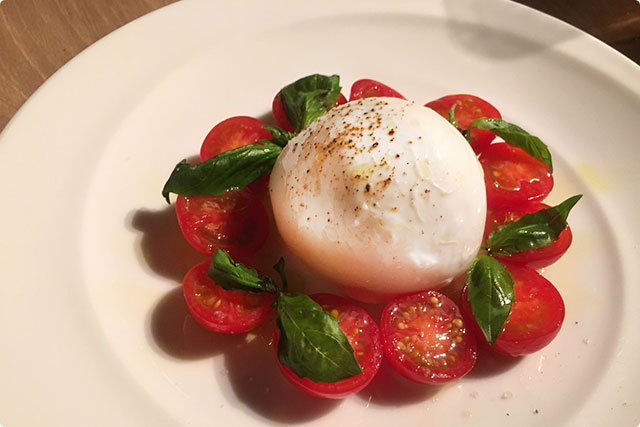 DOP certified water buffalo Mozzarella cheese Caprese