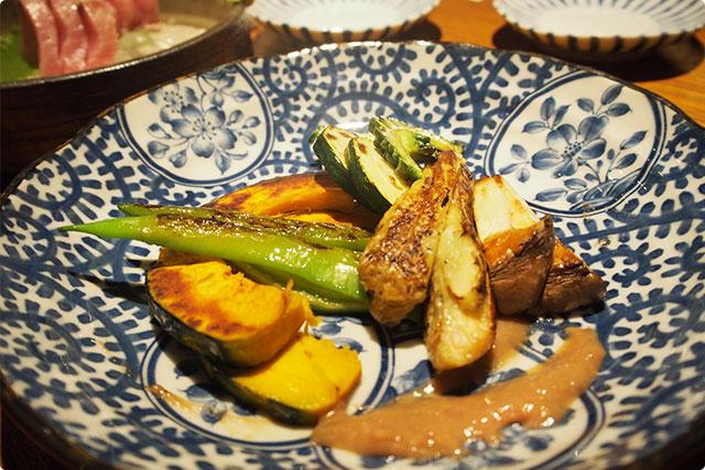 『夏野菜の鉄板焼き』