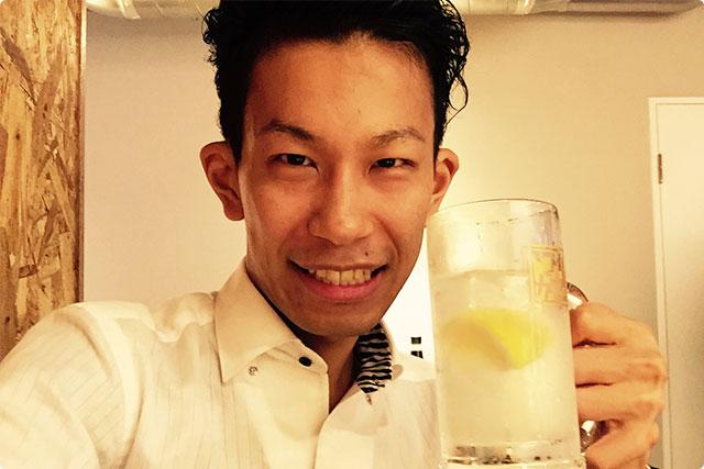 というわけで、今日はレモンサワーで乾杯!