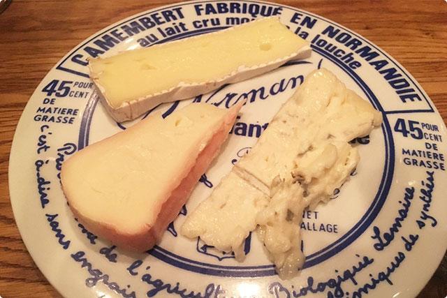『チーズ盛り合わせ』