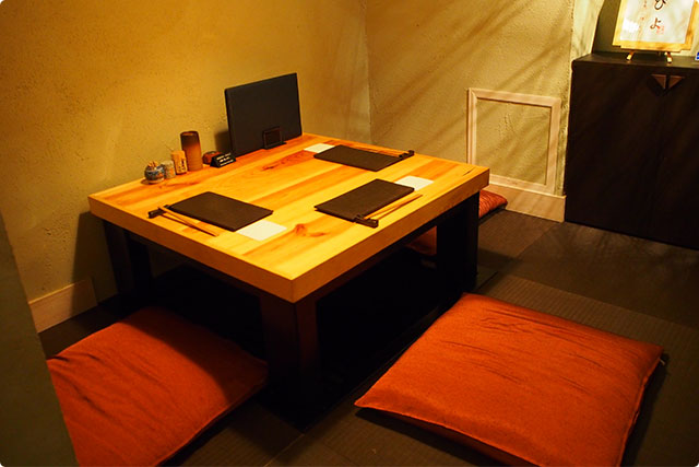Private rooms with Tatami