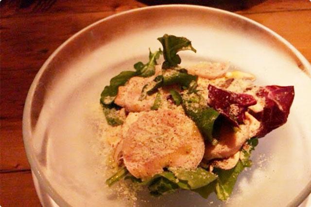 'Chicken ham and mushroom salad'