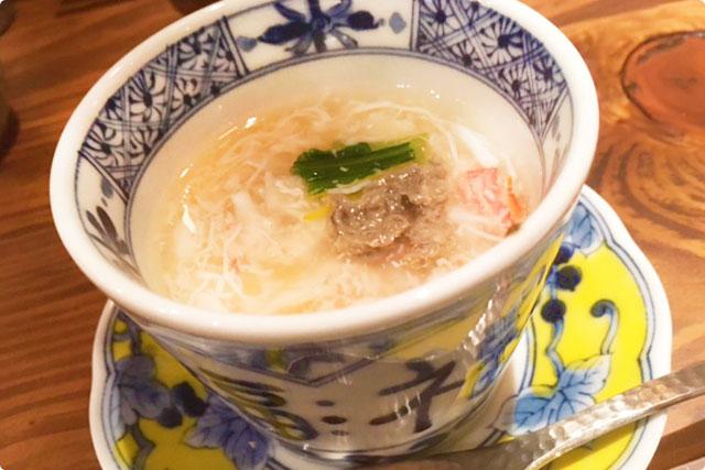蒸し物:『蟹身の茶碗蒸し』