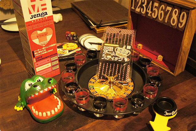 ここでお店のオーナーさんから宴会・合コンに使えるアイテムを色々紹介していただきました。