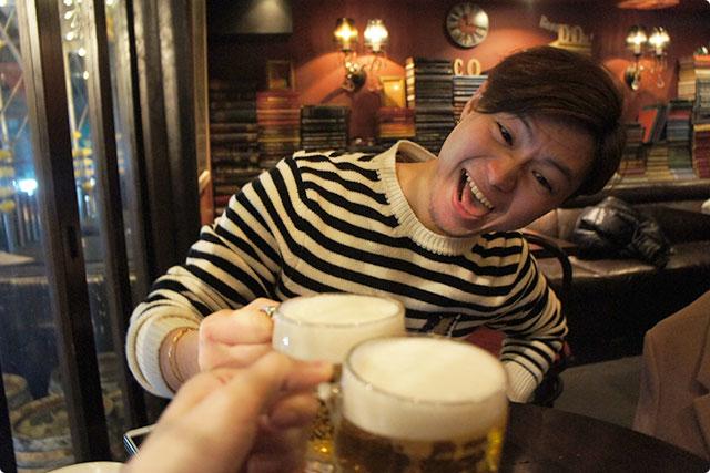 ハートランドの生ビールで乾杯です!