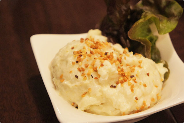 'Green curry flavored Potato salad'¥420